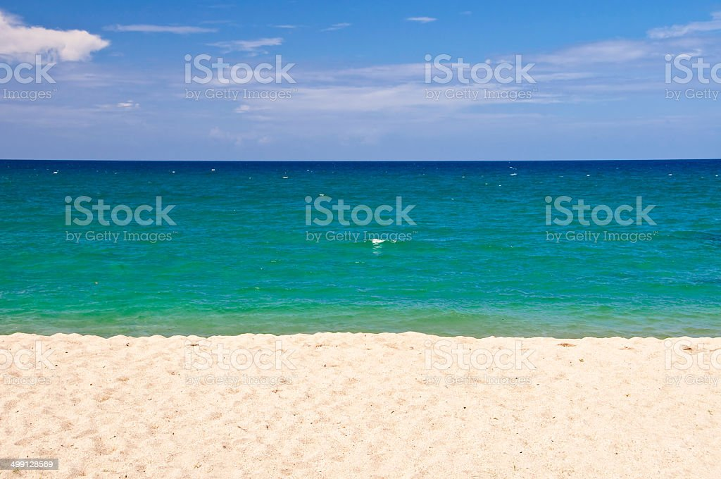 Abstract beach landscape, New Caledonia stock photo