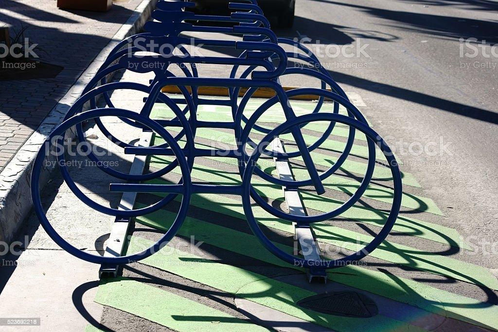 Abstract bike racks stock photo