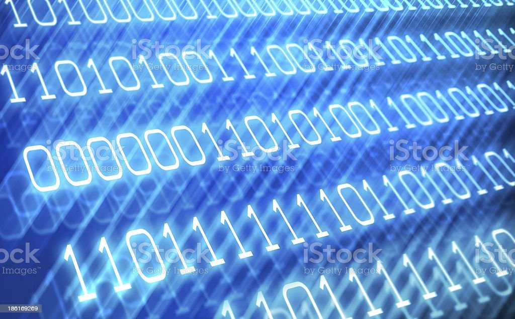 Abstract binary code background stock photo