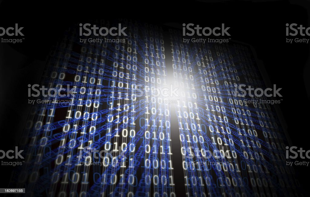 Abstract binary numbers royalty-free stock photo