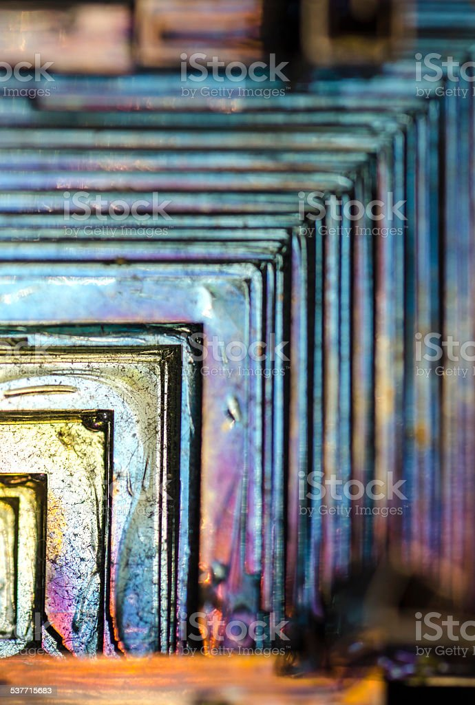 Abstract Bismuth stock photo