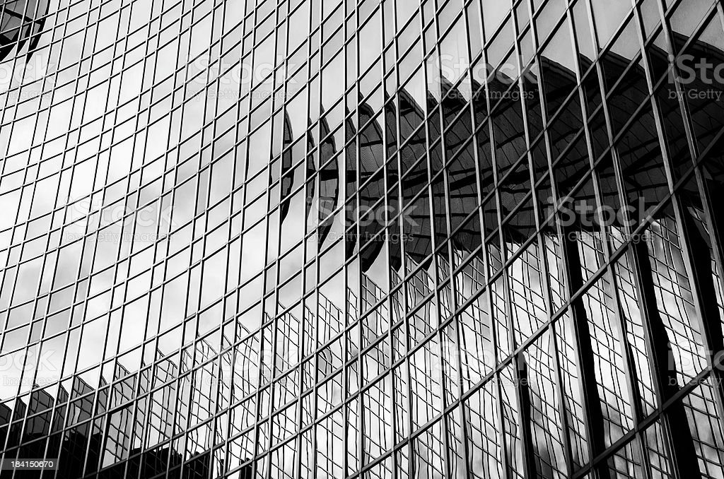 Abstract black and white architecture segment royalty-free stock photo