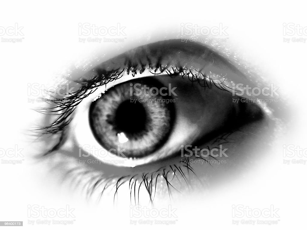 Abstract Black and White Eye royalty-free stock photo