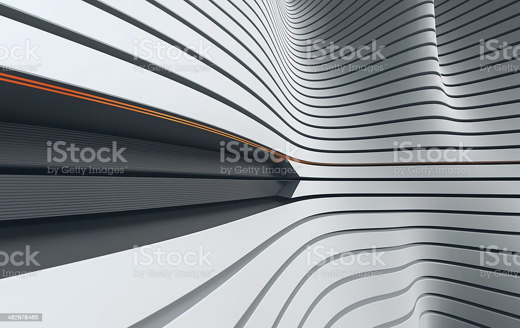 Abstract black and white waves stock photo