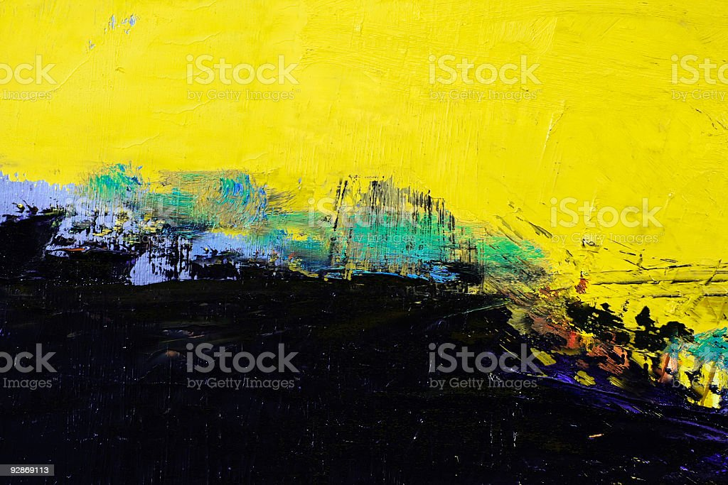Abstract black and yellow  art backgrounds. royalty-free stock photo