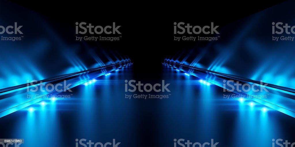 Abstract black background with illumination stock photo
