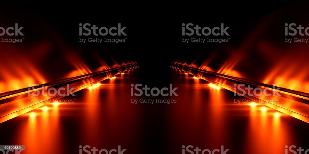 Abstract black background with illumination stock photo