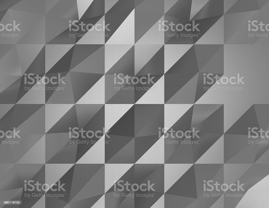 Abstract black faceted paper background stock photo