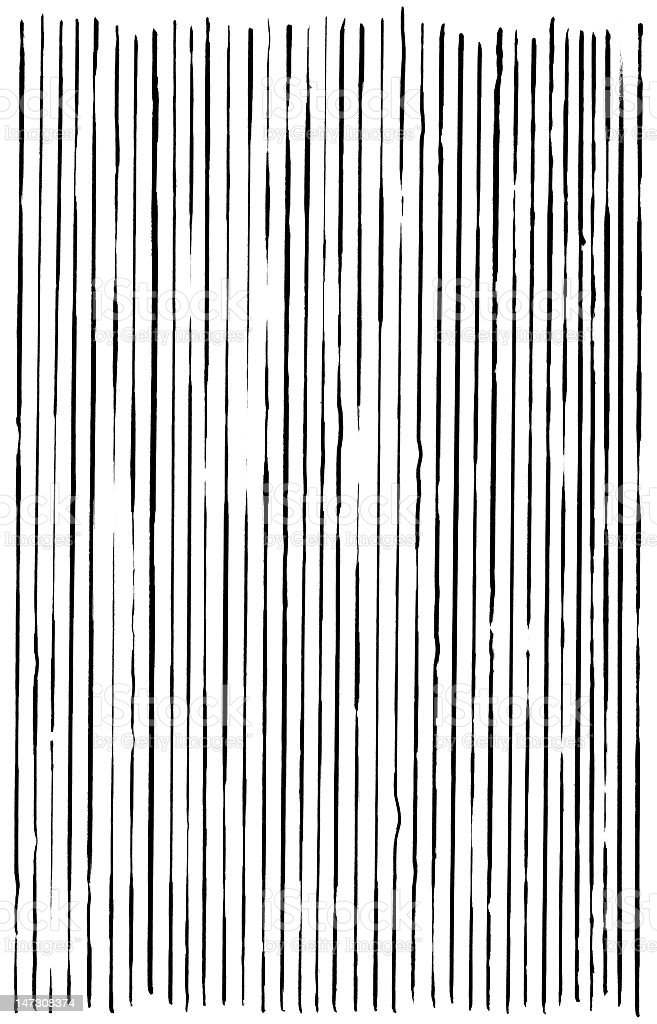 Abstract Black lines on white stock photo