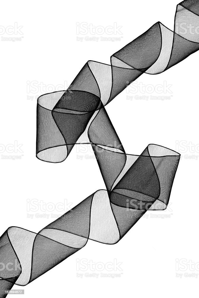 Abstract black ribbon royalty-free stock photo