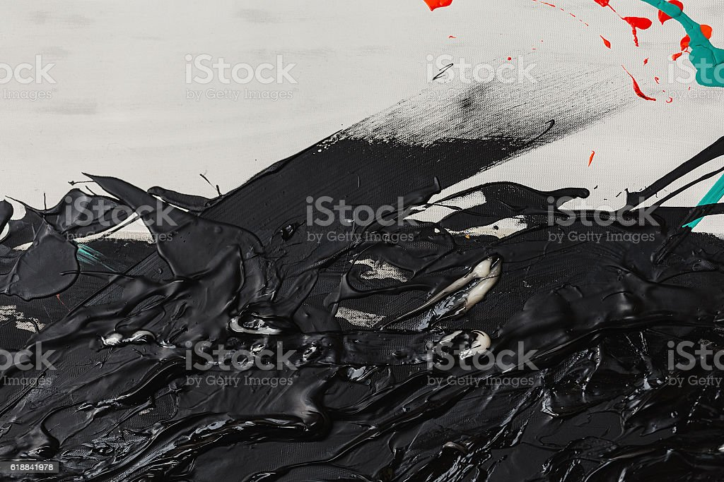 abstract black white paint vector art illustration