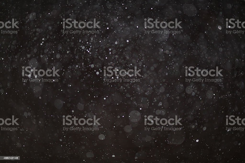 Abstract black white snow texture on black background for overlay stock photo