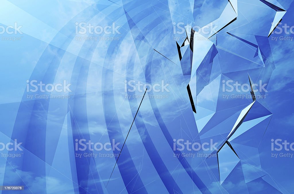 Abstract blue 3d background texture royalty-free stock photo