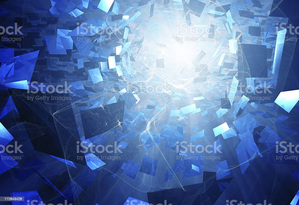 Abstract blue and flame stock photo
