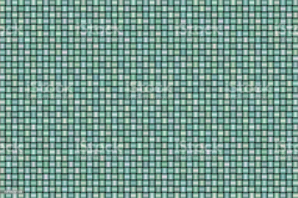 Abstract Blue and Green Satin Effect Weave Patterns Background stock photo