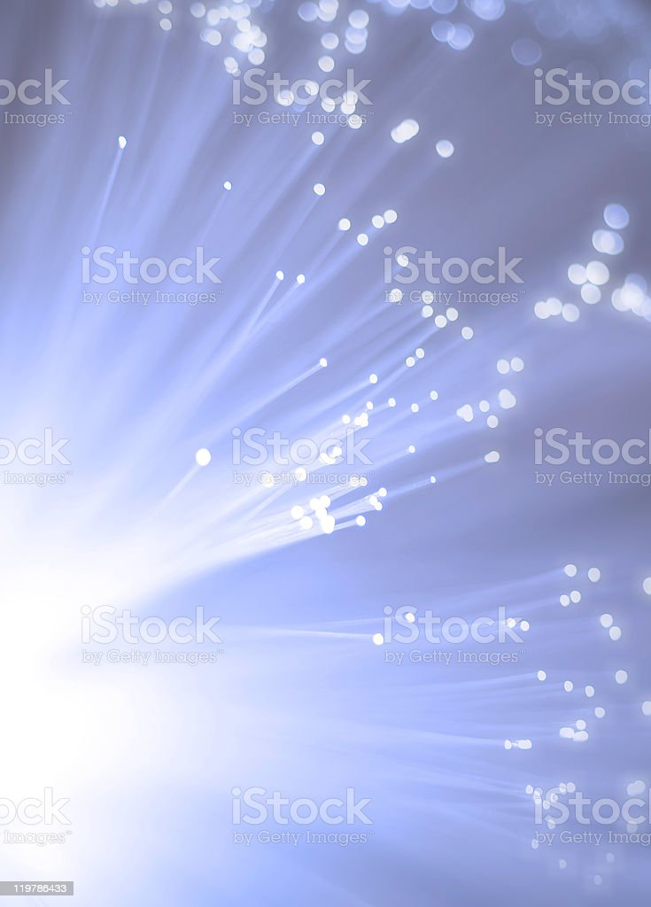 Abstract blue and white light explosion royalty-free stock photo