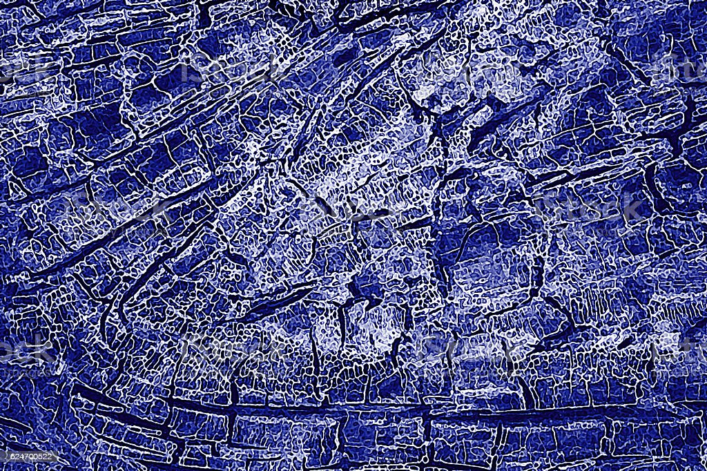 Abstract Blue Background Squiggle Fractures stock photo