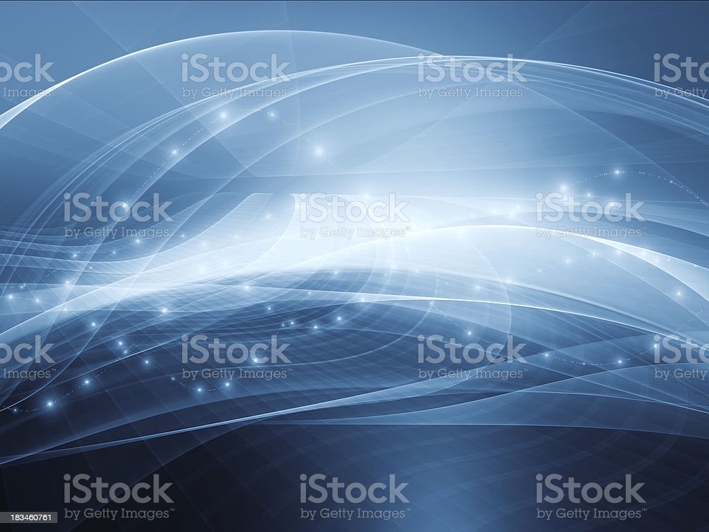 Abstract blue background with light beams vector art illustration
