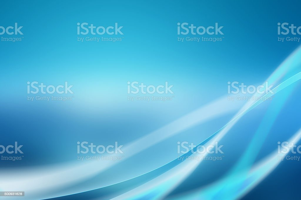 Abstract blue background with soft curves stock photo