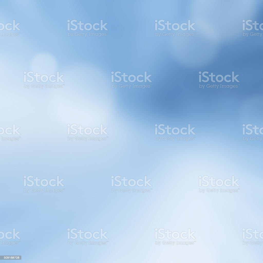 Abstract Blue  Blur Bokeh Background stock photo