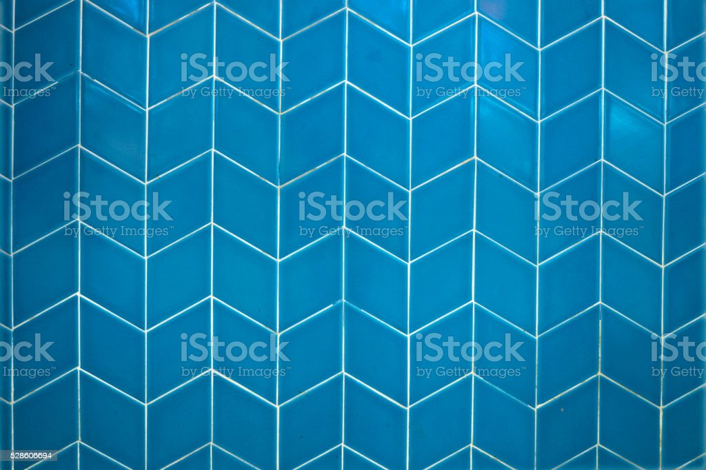 Abstract blue ceramic tiles stock photo