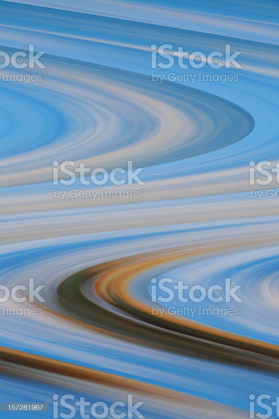 Abstract blue circles, organic royalty-free stock photo