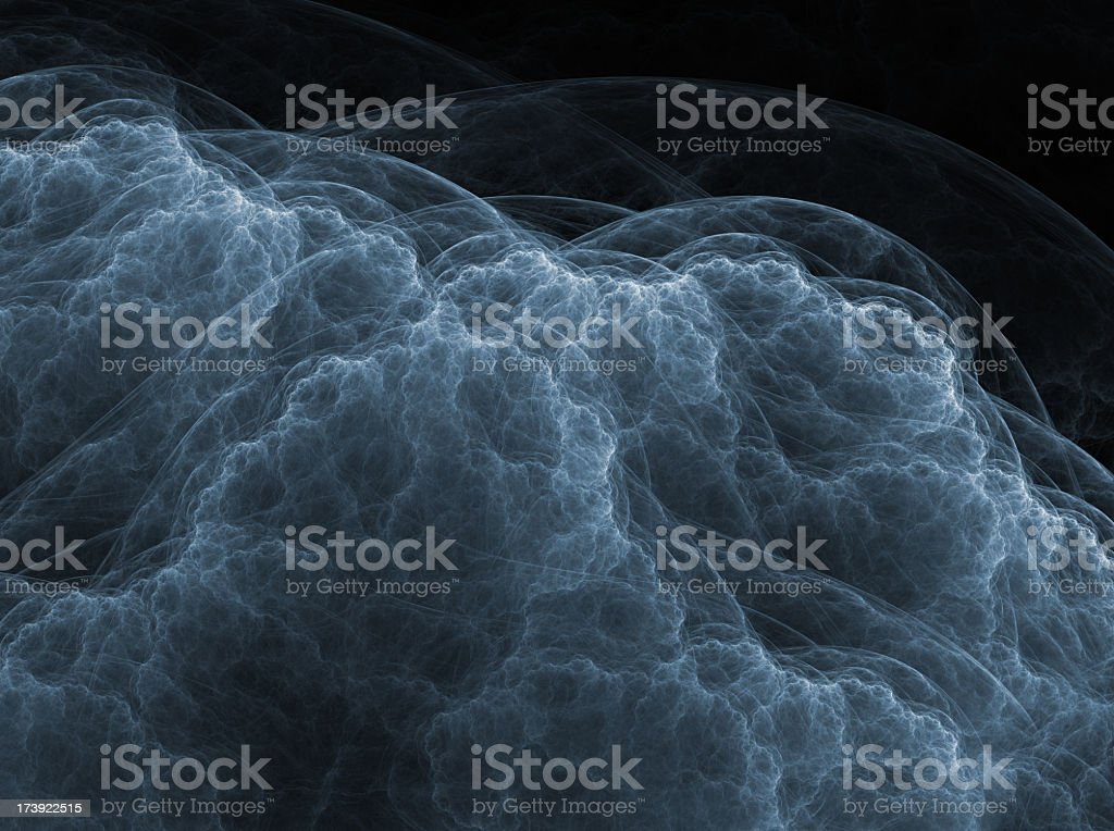 abstract blue cloud texture stock photo