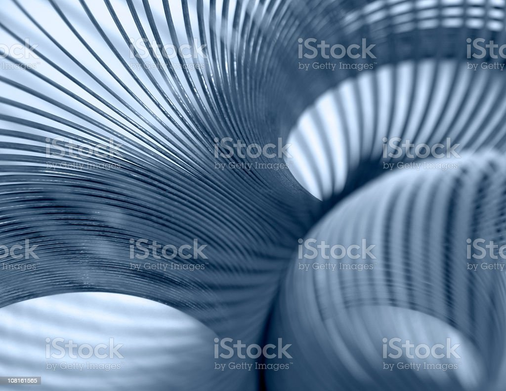Abstract Blue Coils stock photo