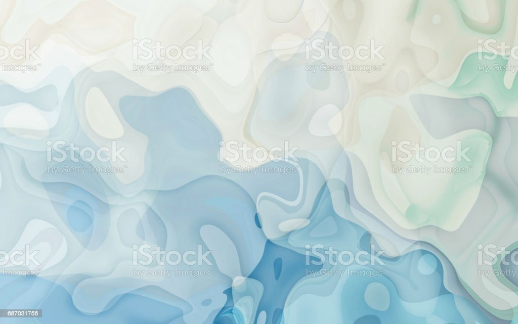Abstract blue curve and wave background Watercolor Soft blue stock photo