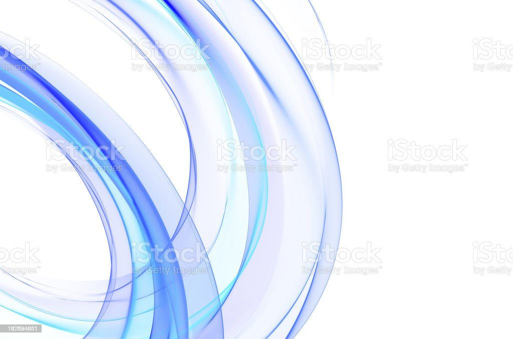 abstract blue curves on white XXXlarge royalty-free stock photo
