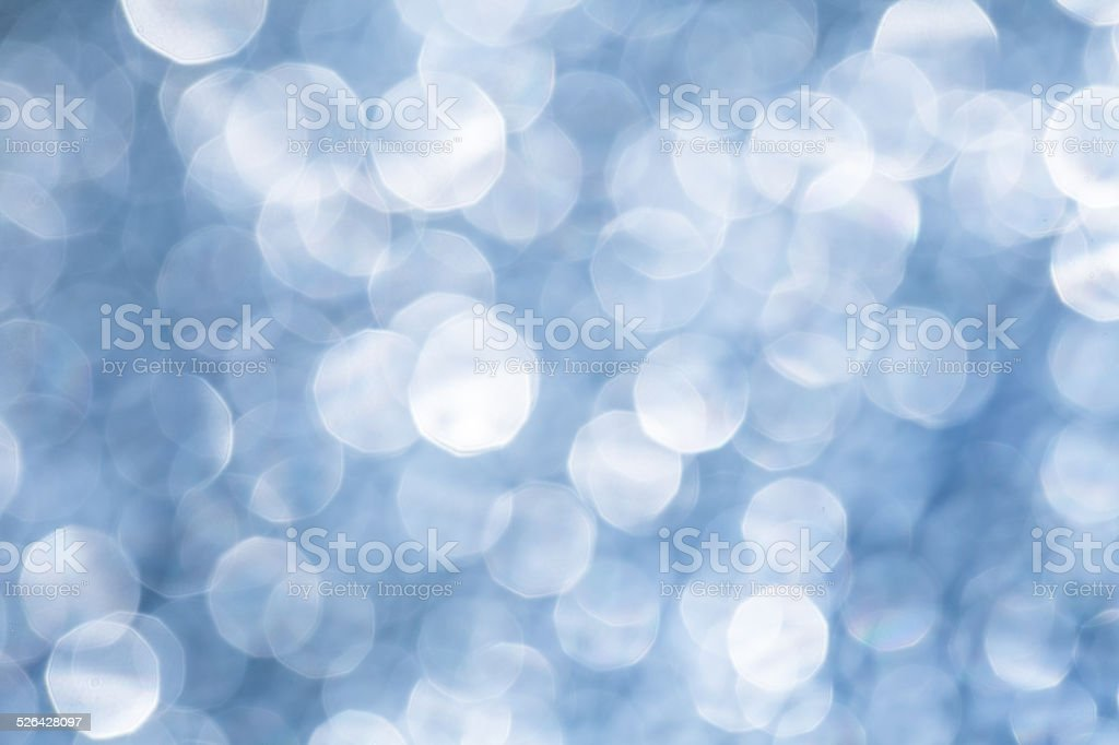 abstract blue defocused facula stock photo