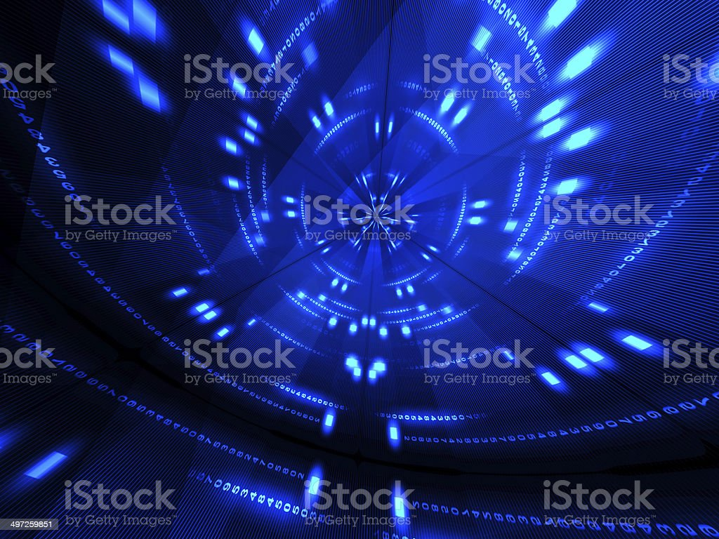 Abstract blue digital background stock photo