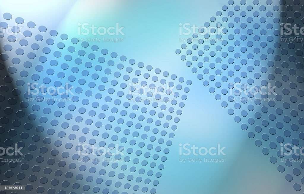 Abstract Blue Dot Grid royalty-free stock photo