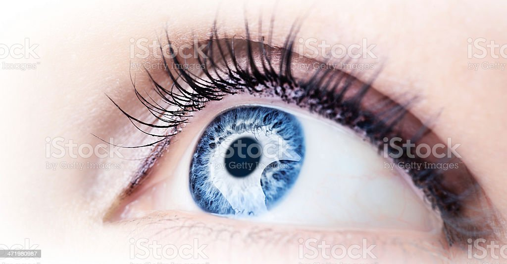 Abstract blue eye stock photo
