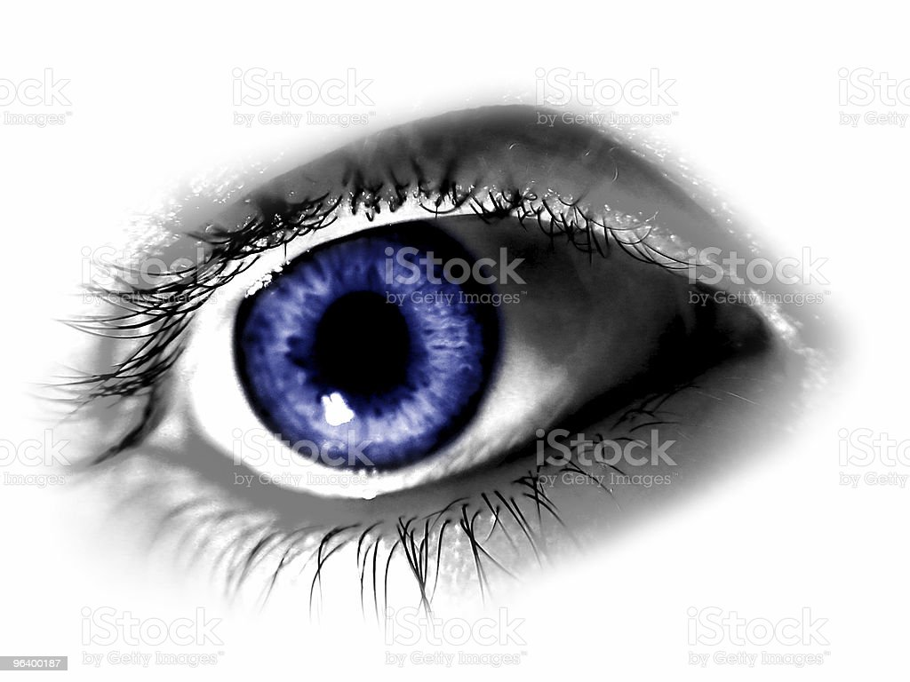 Abstract Blue Eye royalty-free stock photo