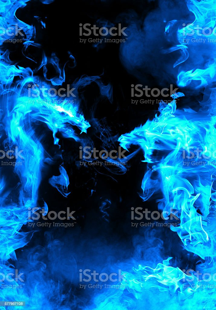 Abstract blue fiery dragon versus stock photo