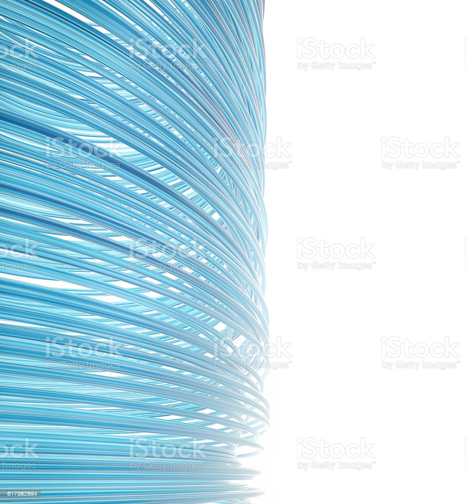 Abstract blue futuristic circle lines stock photo