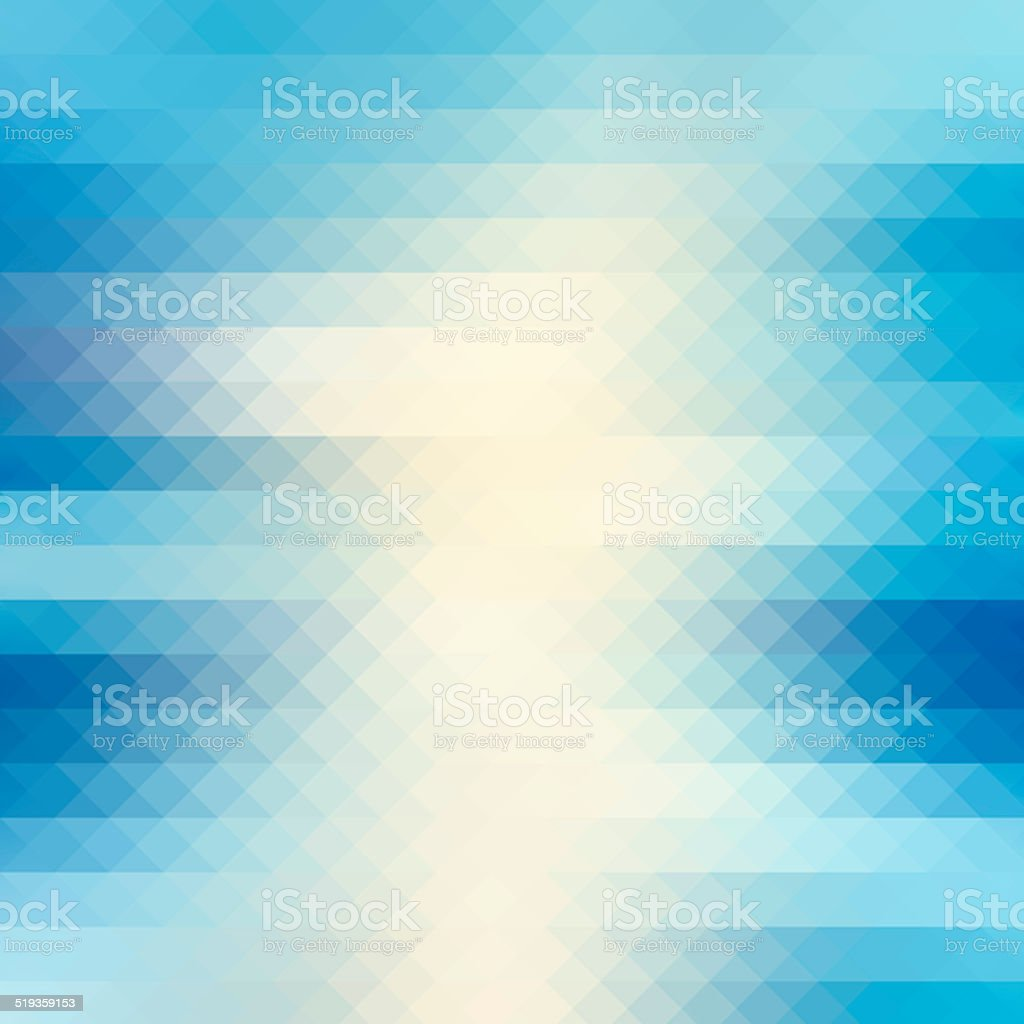 Abstract blue geometric background stock photo