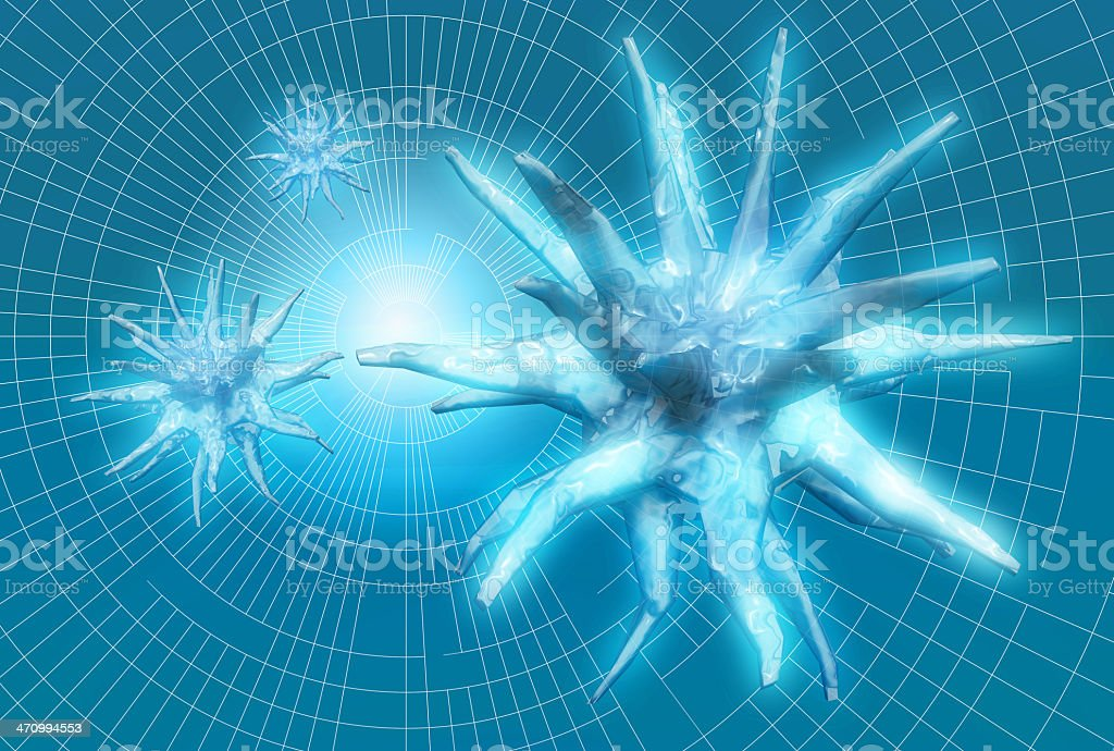 Abstract blue ghost 04 royalty-free stock photo