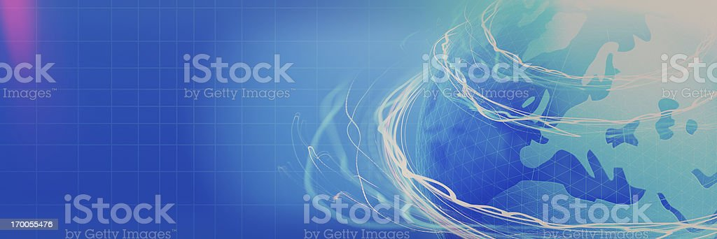 Abstract Blue Globe Banner royalty-free stock photo