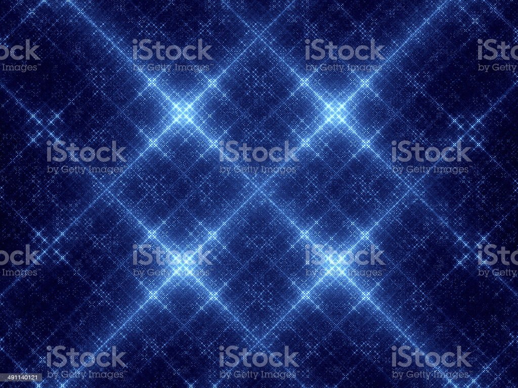 Abstract blue glowing snowflakes royalty-free stock photo