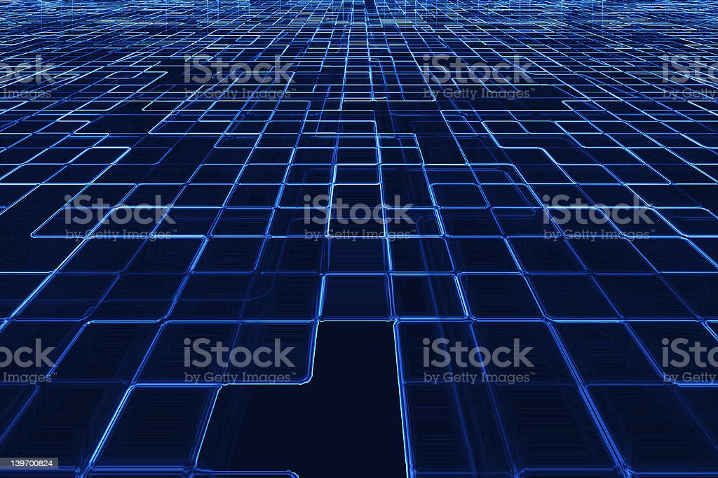 Abstract blue grid. royalty-free stock photo