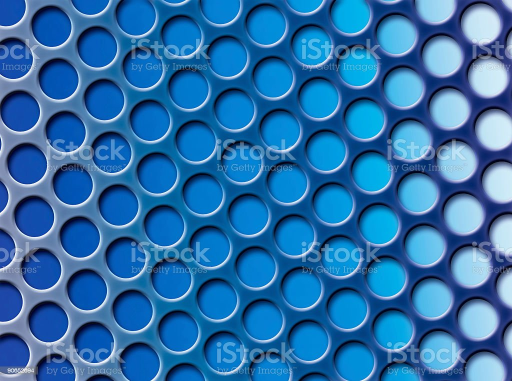 Abstract Blue Grid royalty-free stock photo