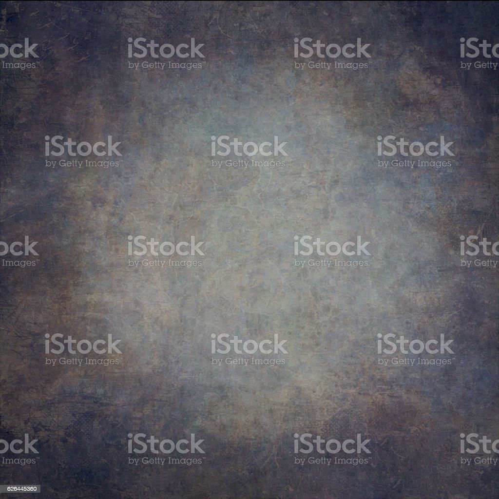 Abstract blue  hand-painted vintage background stock photo