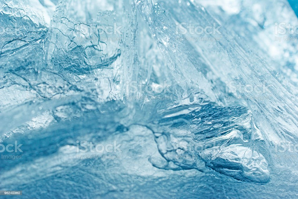 Abstract blue ice background royalty-free stock photo