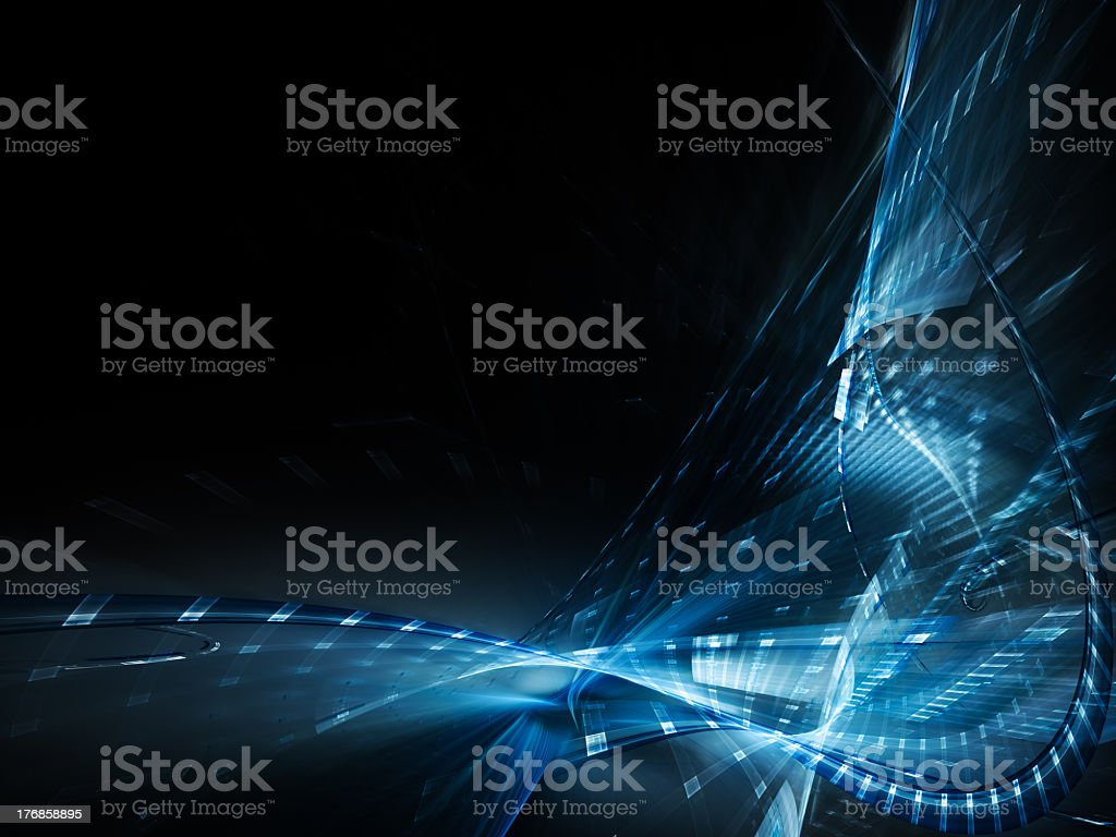 Abstract blue LED light element background royalty-free stock photo