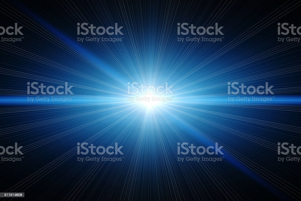 Abstract blue light stock photo