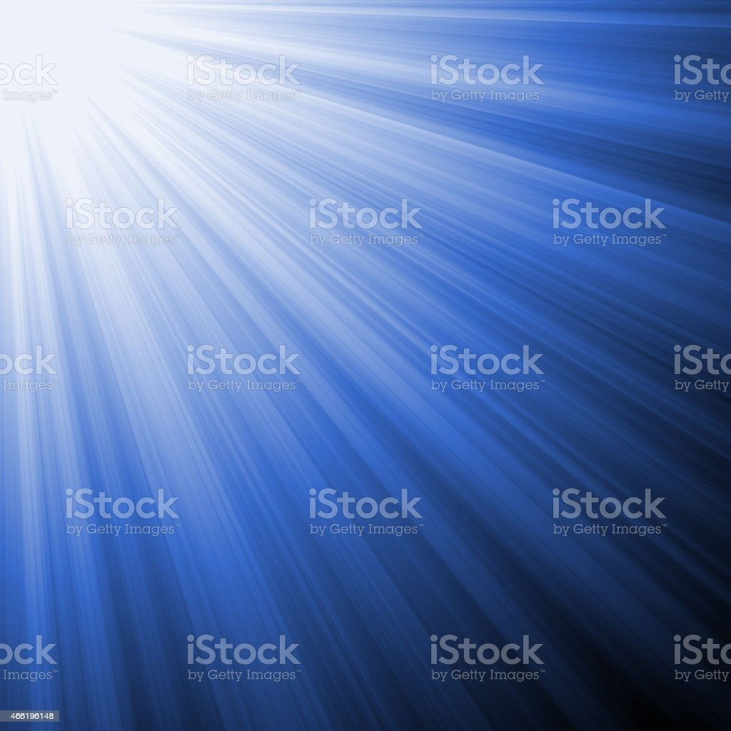 Abstract Blue Light Rays Background stock photo