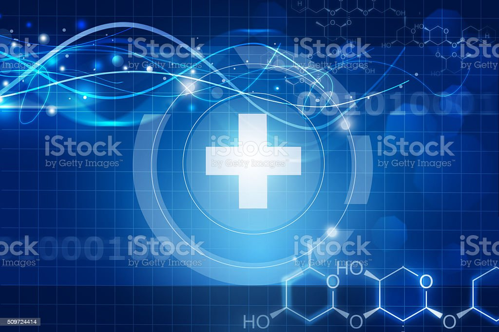 abstract blue medical background stock photo