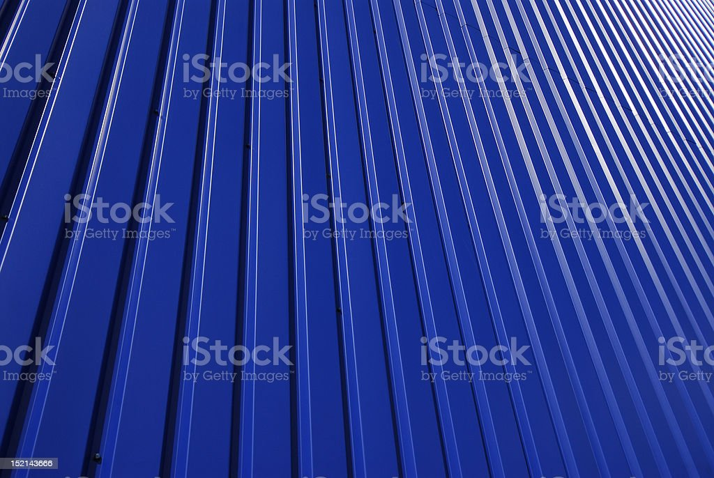 Abstract Blue Metal Cladding royalty-free stock photo